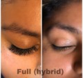 Hybrid lashes procedure