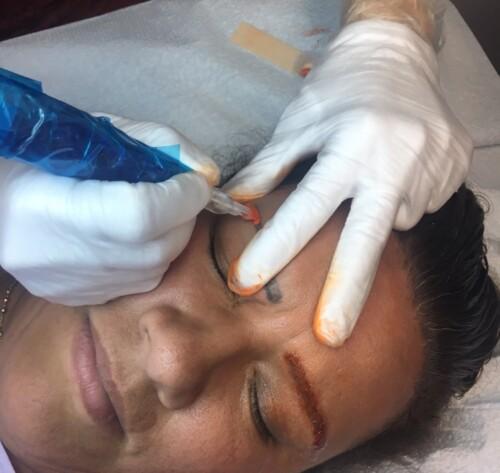 Eyebrow correctional training